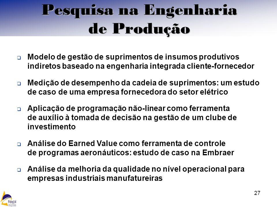Pesquisa na Engenharia de Produção