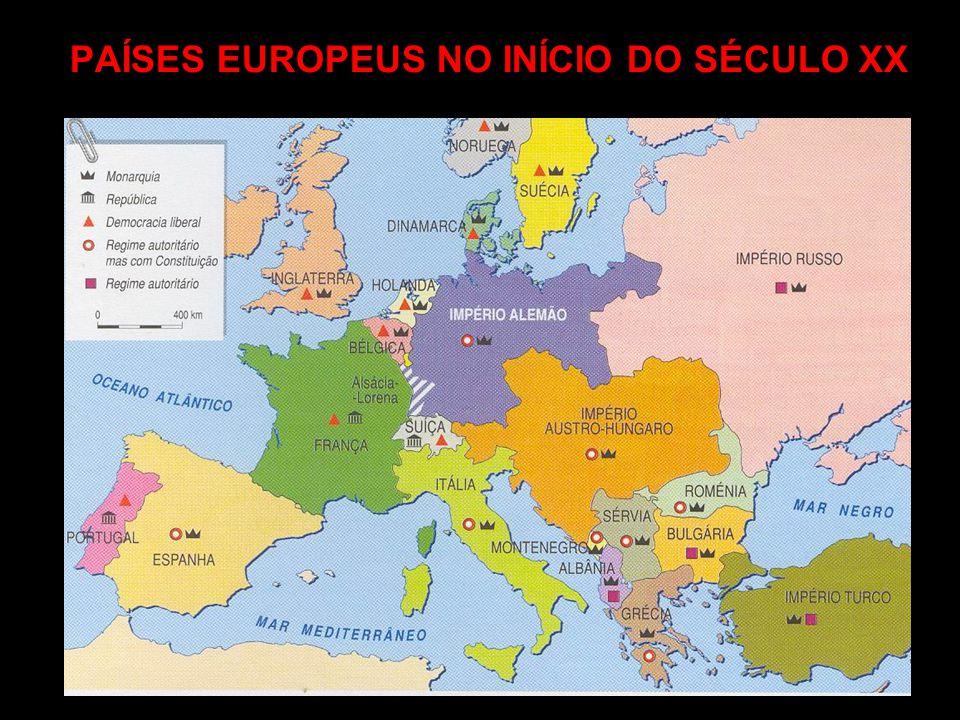 PAÍSES EUROPEUS NO INÍCIO DO SÉCULO XX