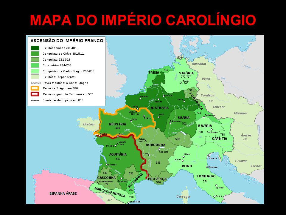 MAPA DO IMPÉRIO CAROLÍNGIO