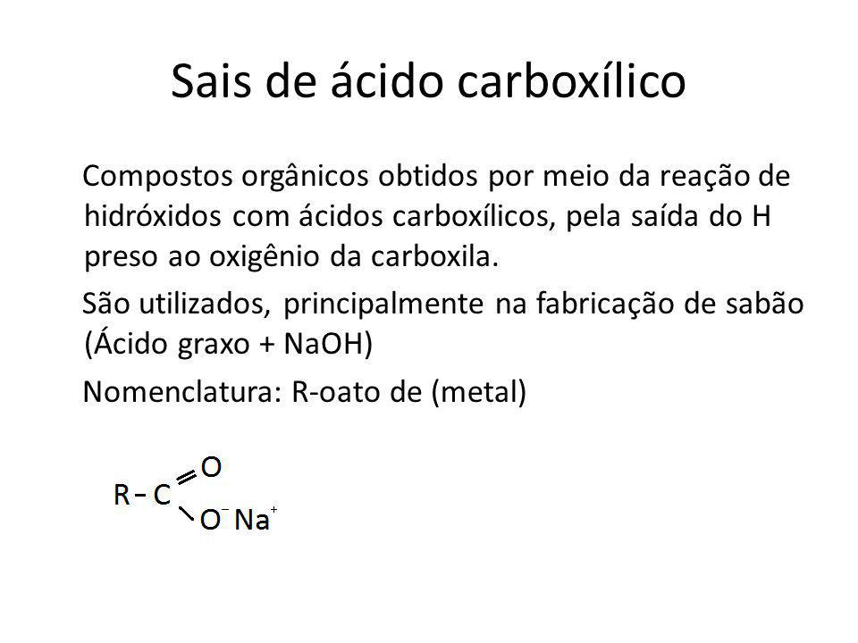 Sais de ácido carboxílico