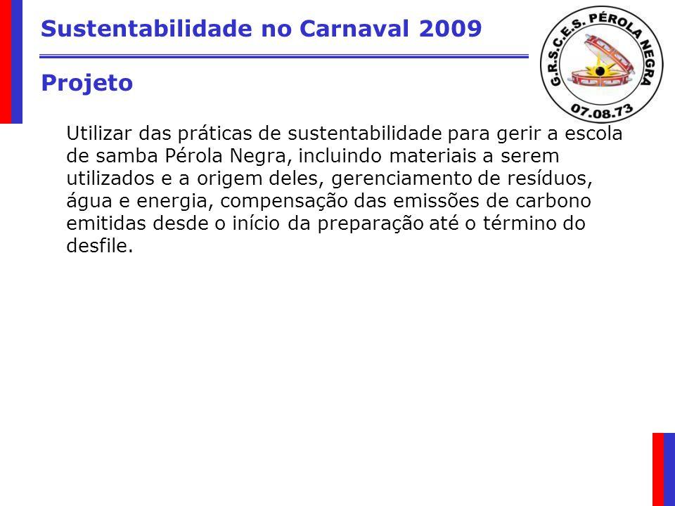 Sustentabilidade no Carnaval 2009 Projeto