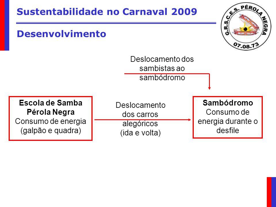 Sustentabilidade no Carnaval 2009 Desenvolvimento
