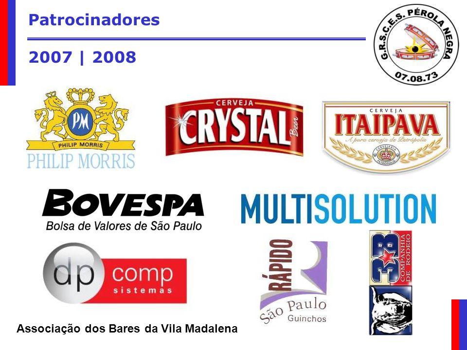 Patrocinadores 2007 | 2008 Associação dos Bares da Vila Madalena