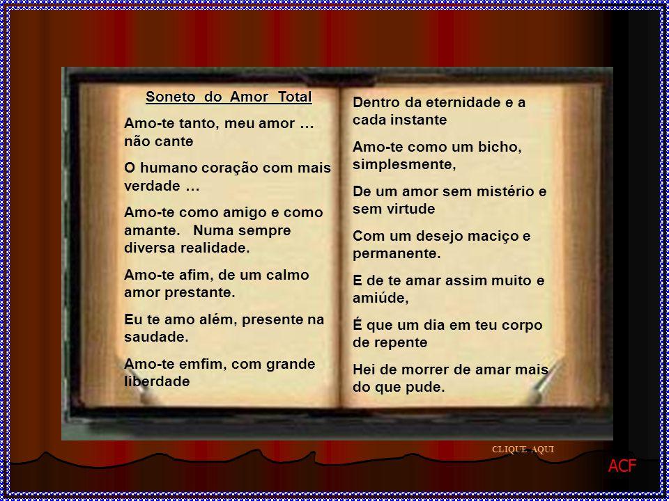 ACF Soneto do Amor Total Dentro da eternidade e a cada instante
