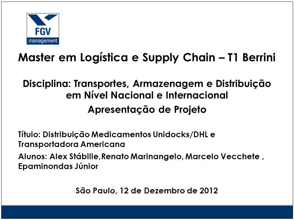 Apresentação de Projeto São Paulo, 12 de Dezembro de 2012