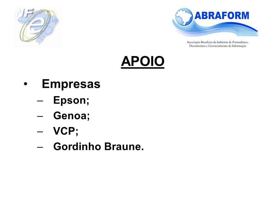 Empresas Epson; Genoa; VCP; Gordinho Braune.