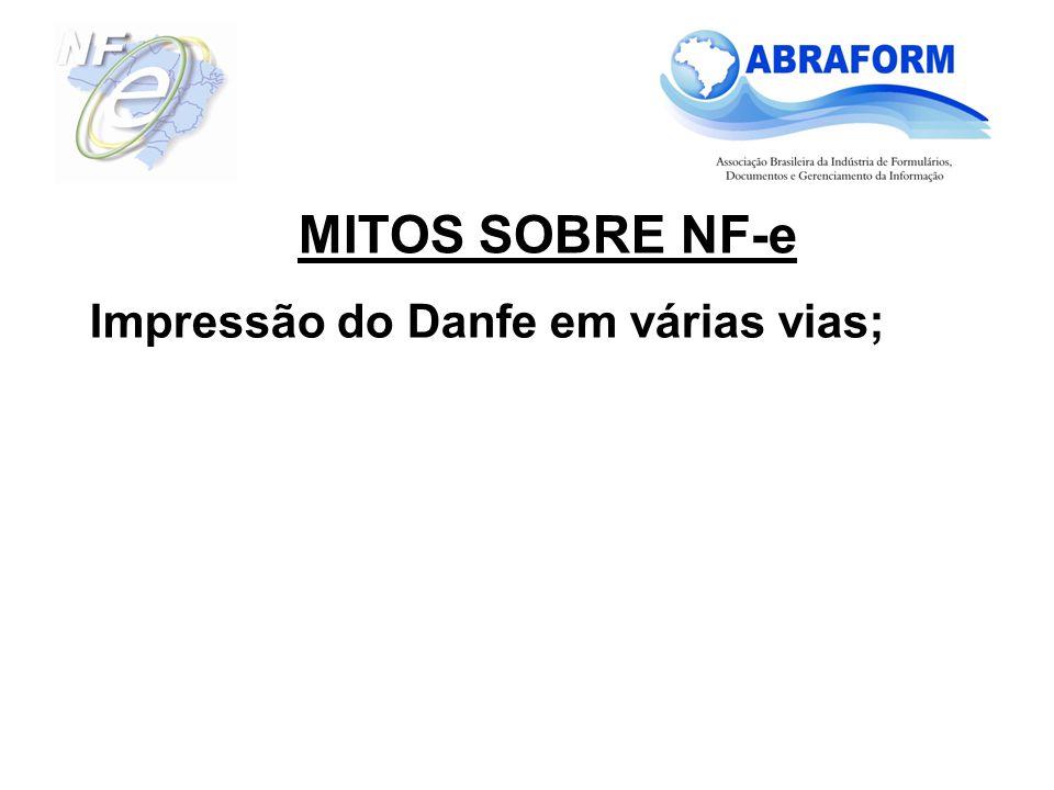 Impressão do Danfe em várias vias;