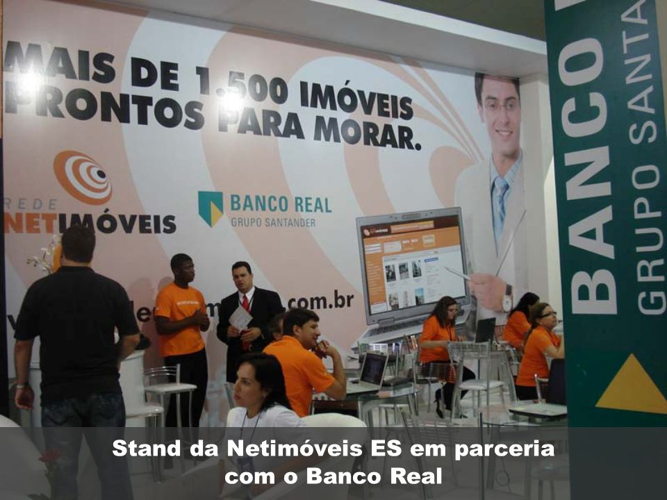 Stand da Netimóveis ES em parceria