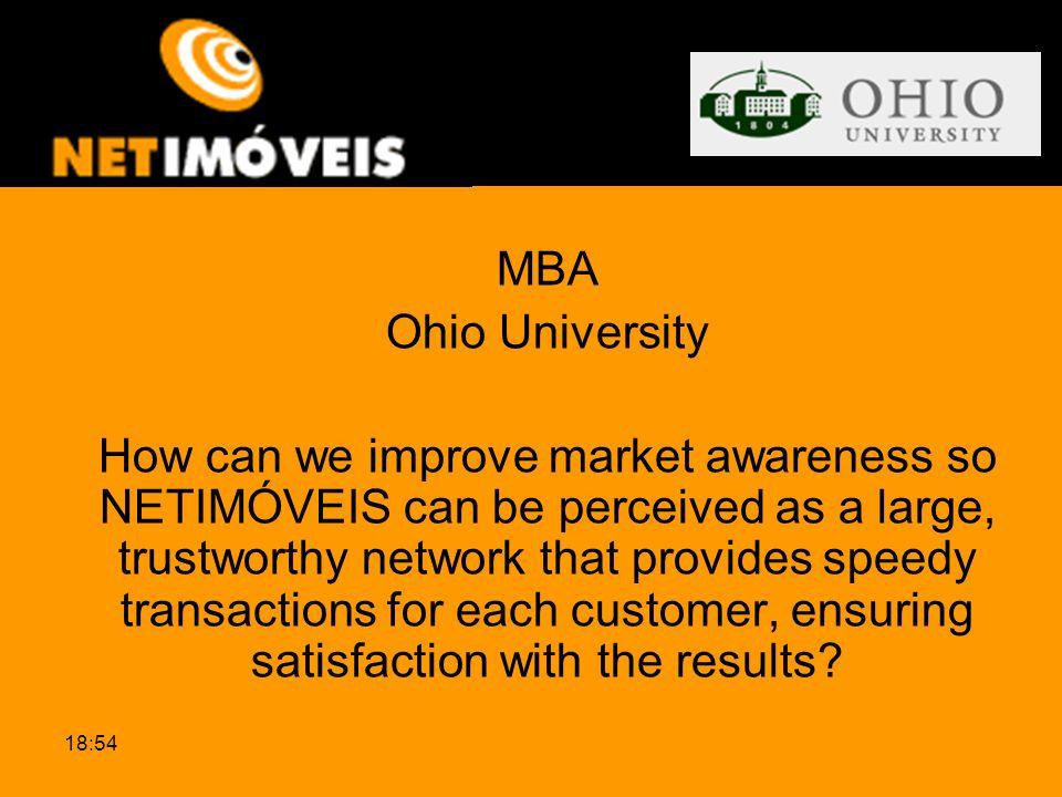 MBA Ohio University.