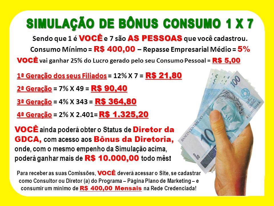 SIMULAÇÃO DE BÔNUS CONSUMO 1 X 7