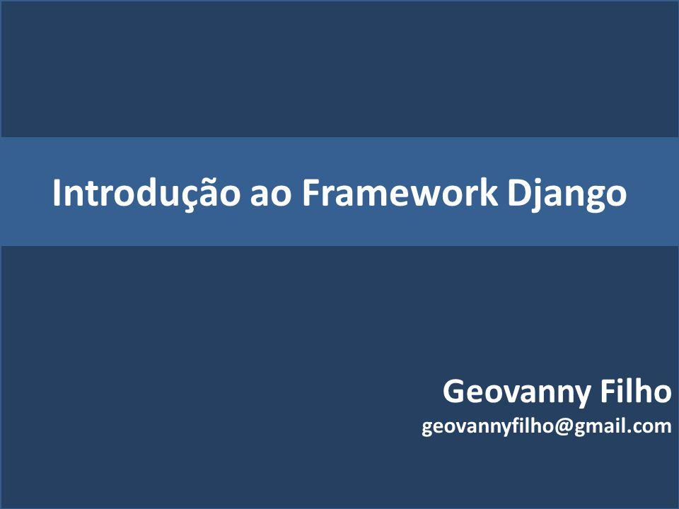 Introdução ao Framework Django