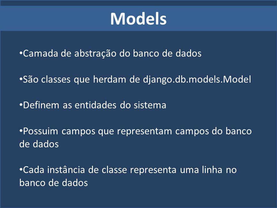 Models Camada de abstração do banco de dados