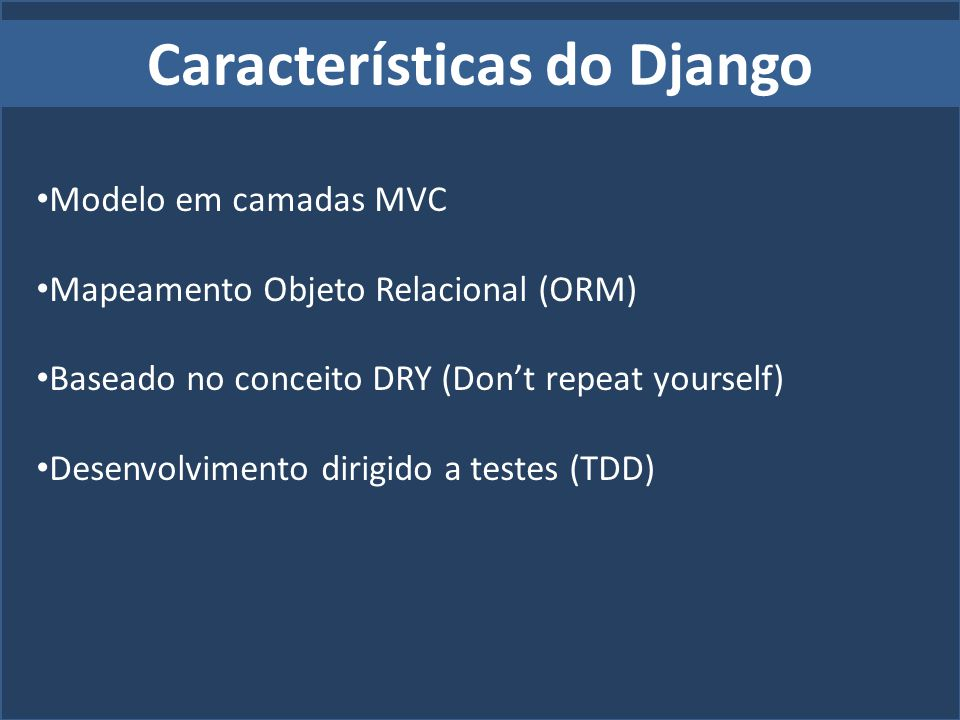 Características do Django