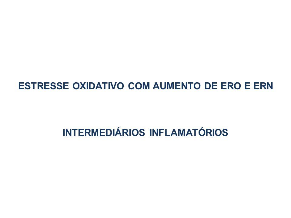 ESTRESSE OXIDATIVO COM AUMENTO DE ERO E ERN