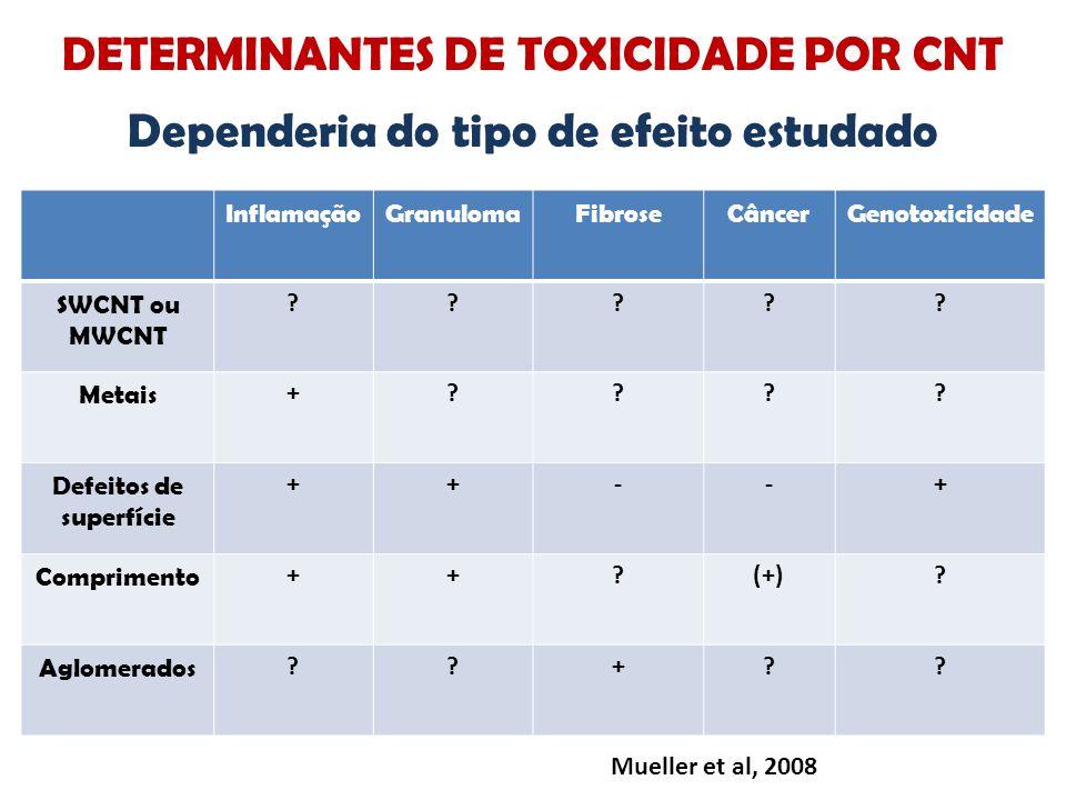 DETERMINANTES DE TOXICIDADE POR CNT