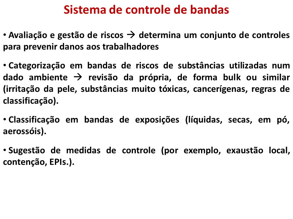 Sistema de controle de bandas