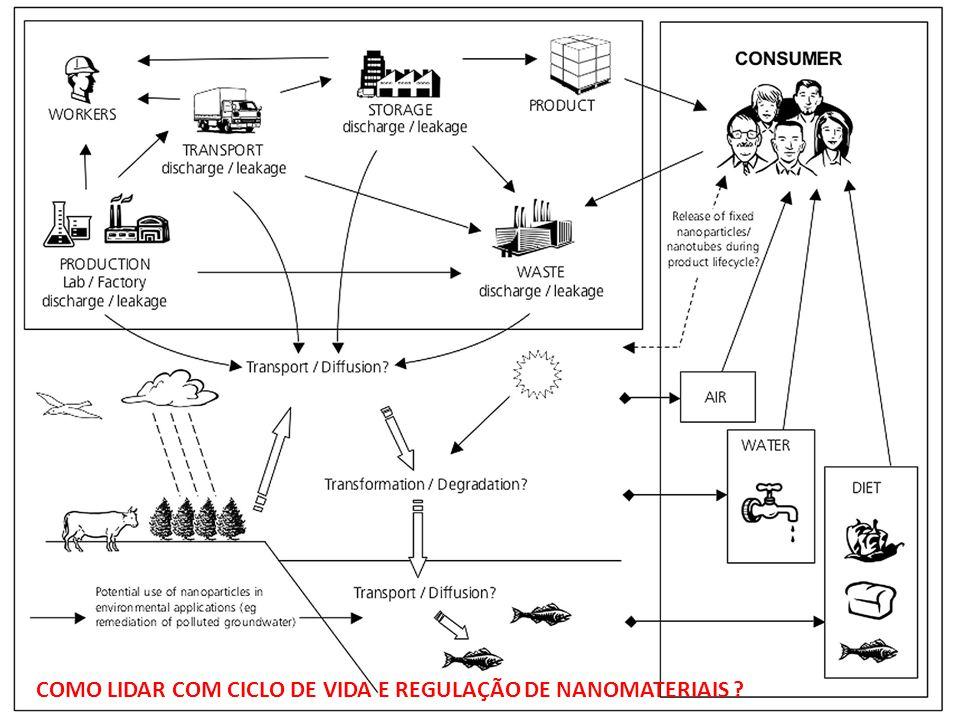 COMO LIDAR COM CICLO DE VIDA E REGULAÇÃO DE NANOMATERIAIS