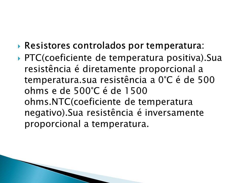 Resistores controlados por temperatura: