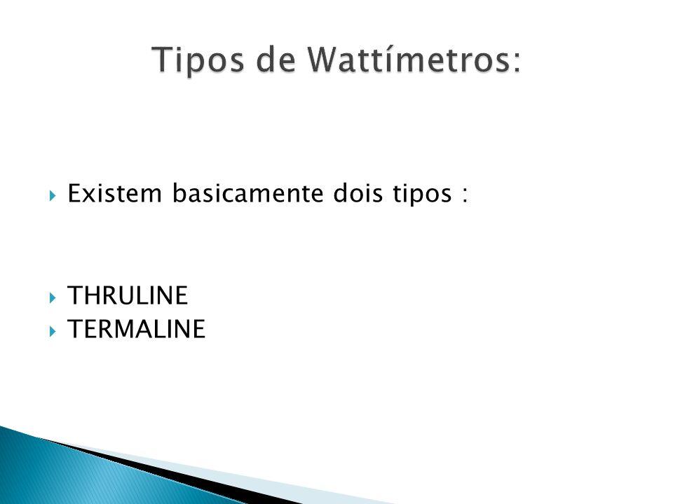 Tipos de Wattímetros: Existem basicamente dois tipos : THRULINE