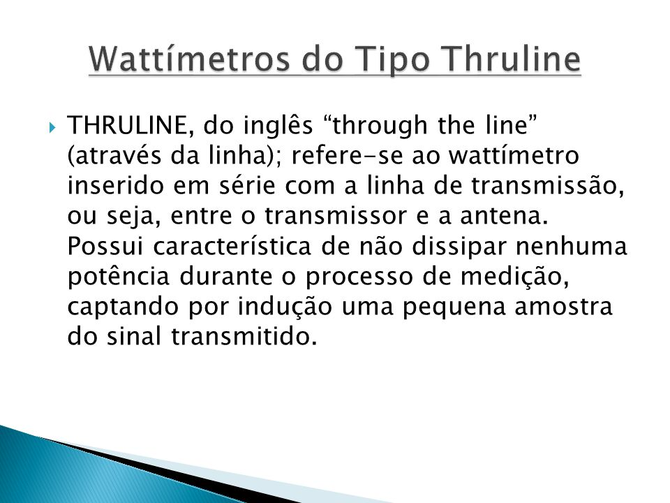 Wattímetros do Tipo Thruline