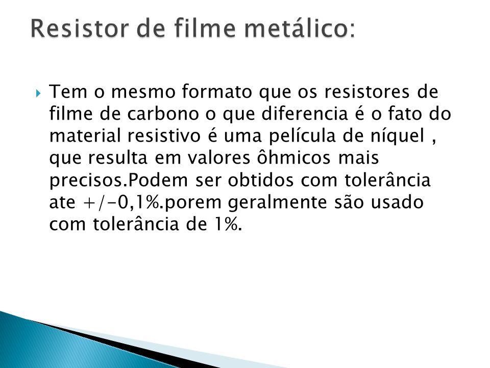 Resistor de filme metálico: