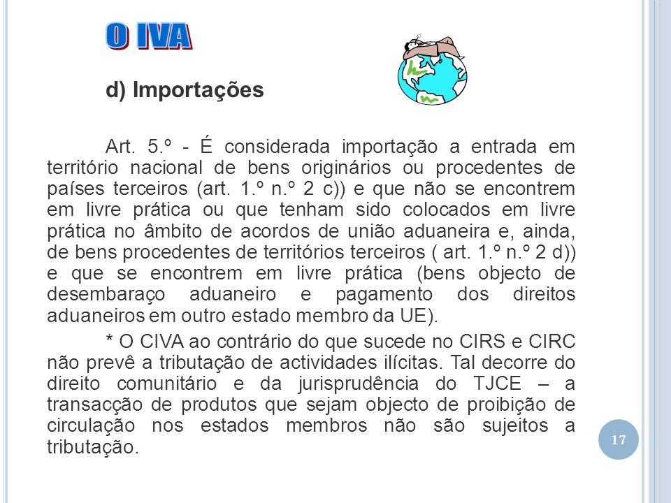 02-04-2017 O IVA. d) Importações.
