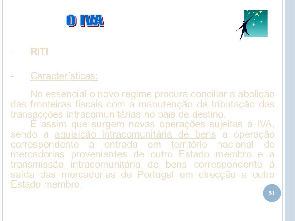 O IVA RITI Características:
