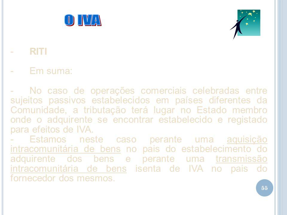 02-04-2017 O IVA. RITI. Em suma: