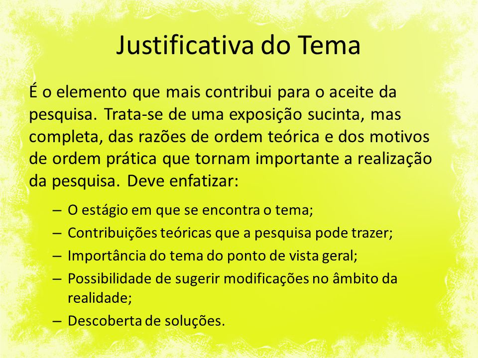 Justificativa do Tema