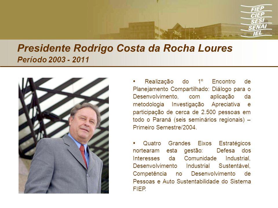 Presidente Rodrigo Costa da Rocha Loures Período 2003 - 2011