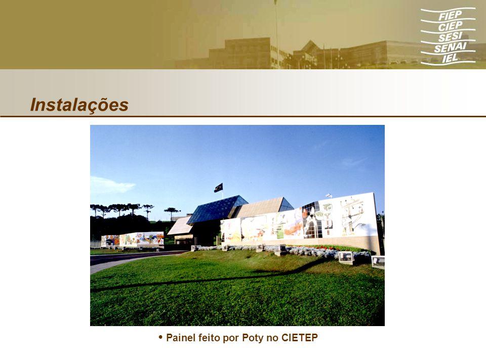 • Painel feito por Poty no CIETEP