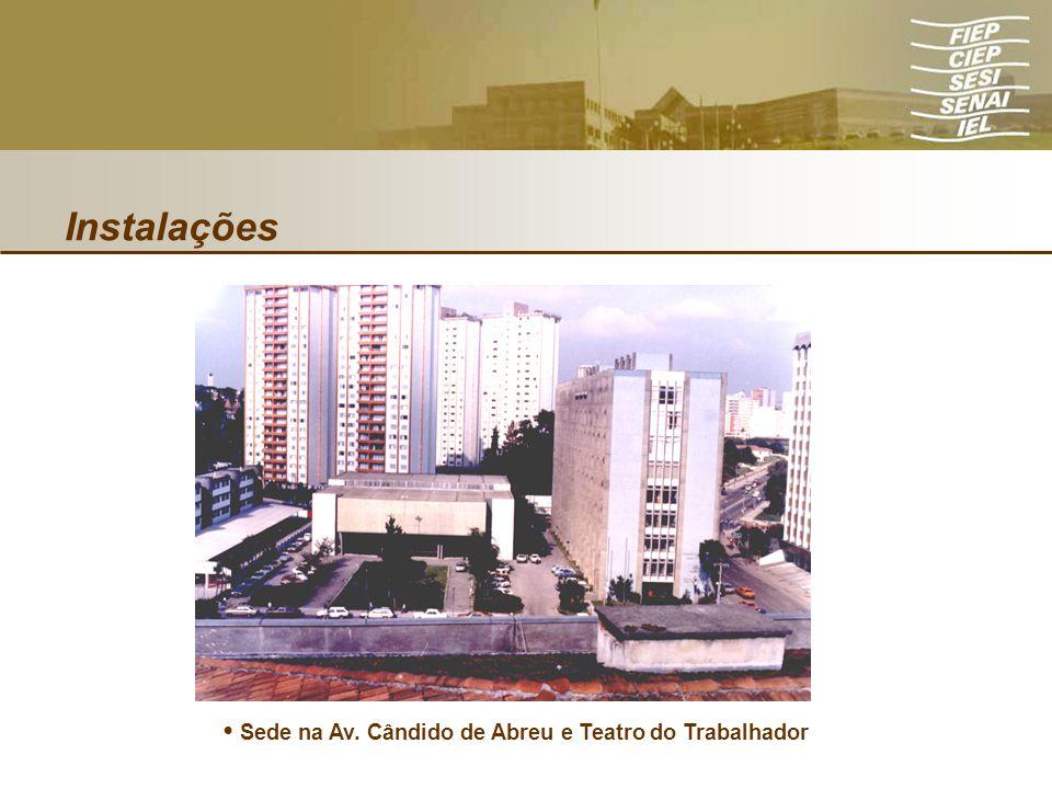 • Sede na Av. Cândido de Abreu e Teatro do Trabalhador