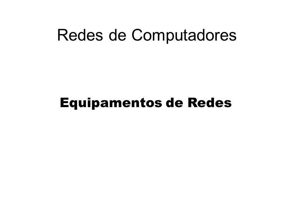 Redes de Computadores Equipamentos de Redes