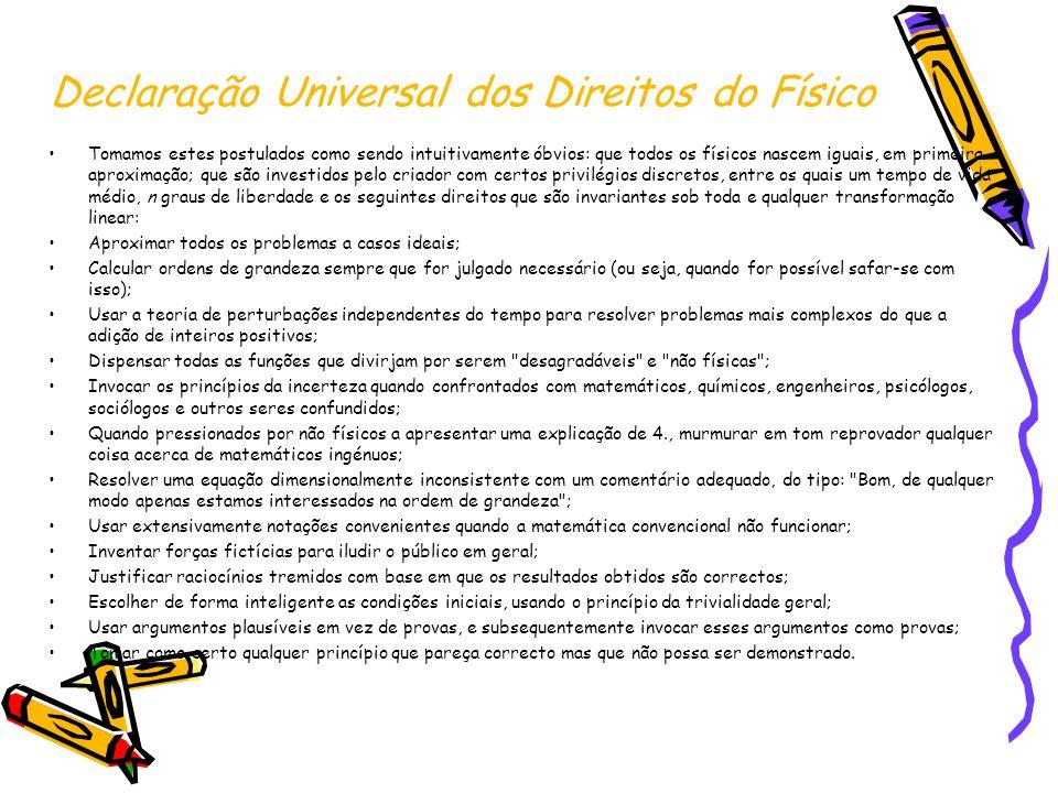 Declaração Universal dos Direitos do Físico