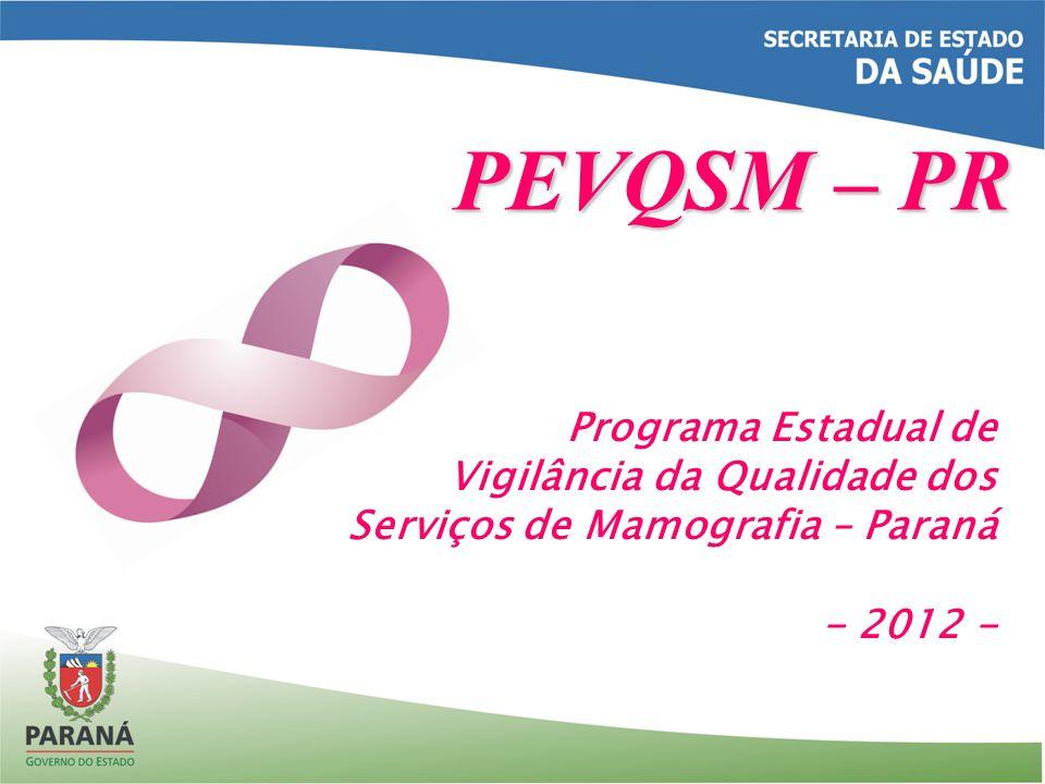 PEVQSM – PR Programa Estadual de Vigilância da Qualidade dos