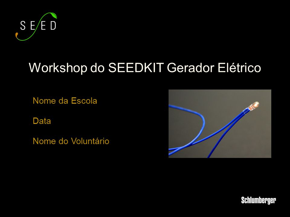 Workshop do SEEDKIT Gerador Elétrico