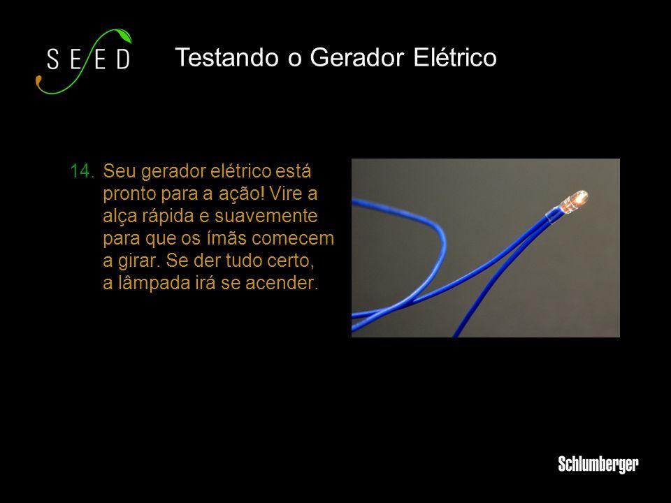 Testando o Gerador Elétrico