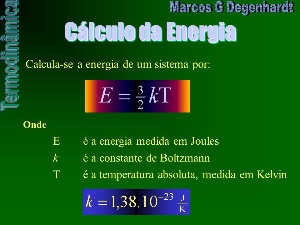 Cálculo da Energia Calcula-se a energia de um sistema por: