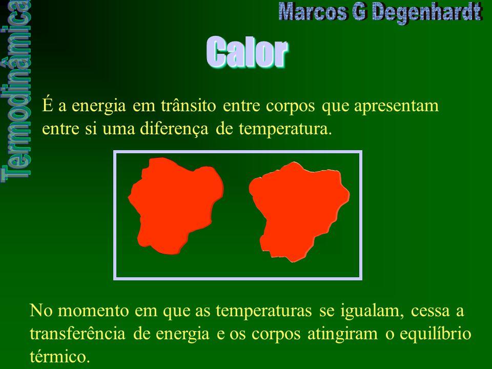 Calor É a energia em trânsito entre corpos que apresentam entre si uma diferença de temperatura.
