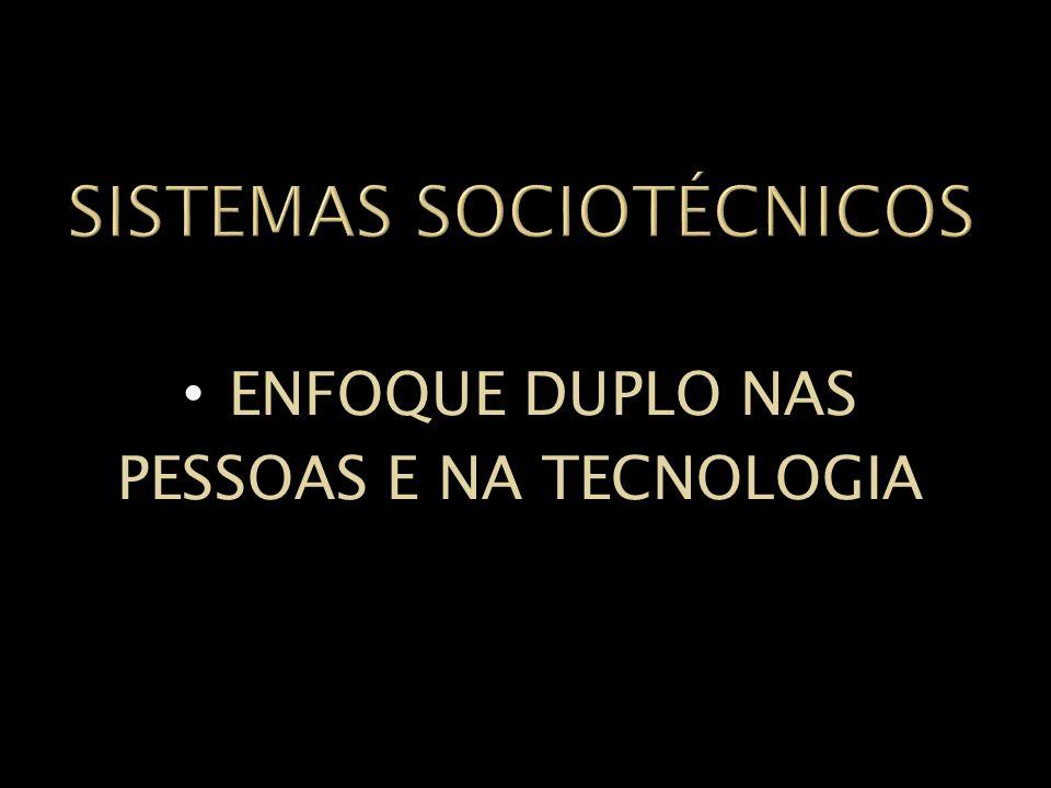 SISTEMAS SOCIOTÉCNICOS