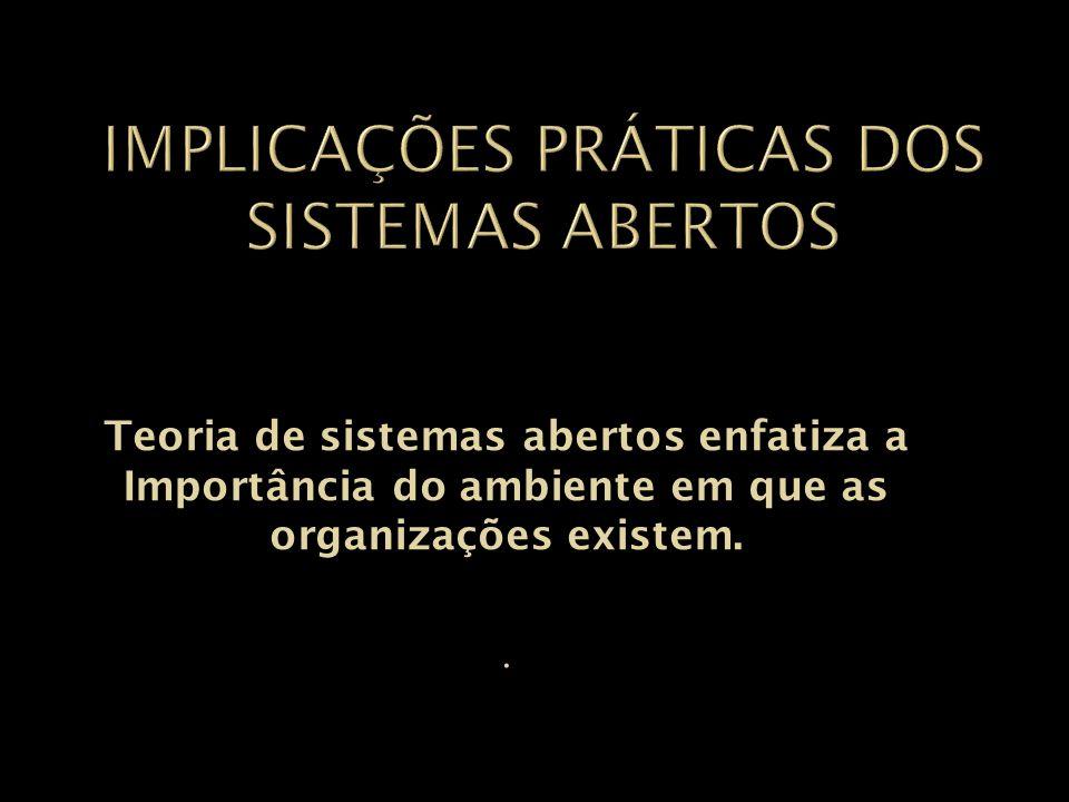 Implicações práticas dos sistemas abertos