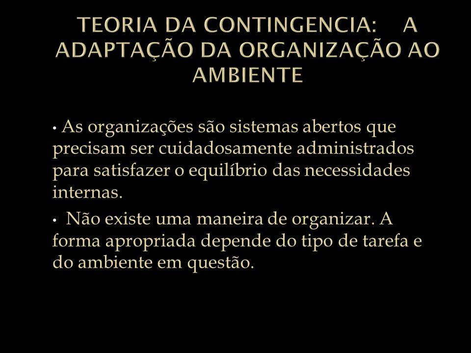 Teoria da contingencia: A adaptação da organização ao ambiente
