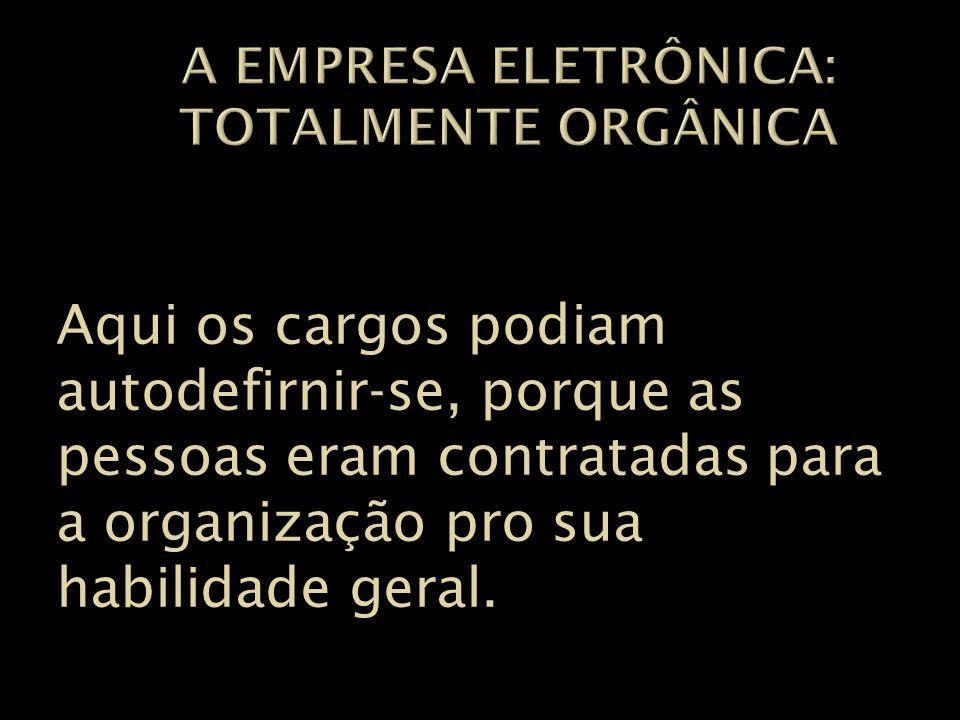 A empresa eletrônica: Totalmente orgânica