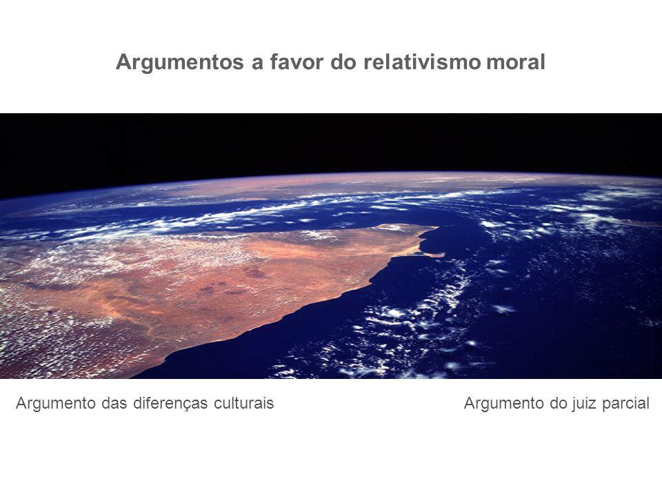 Argumentos a favor do relativismo moral