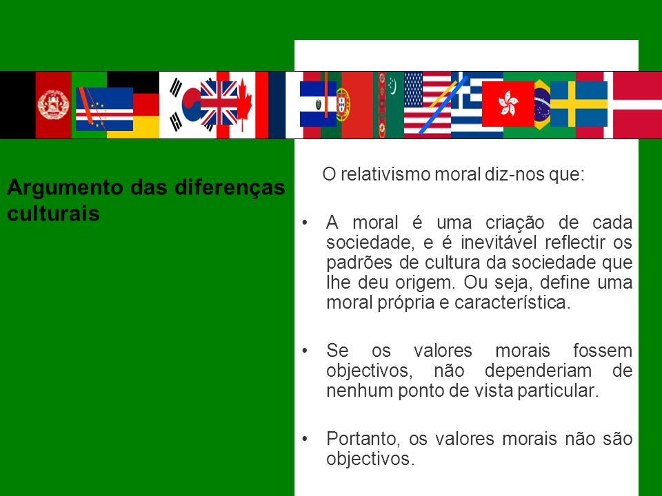 Argumento das diferenças culturais