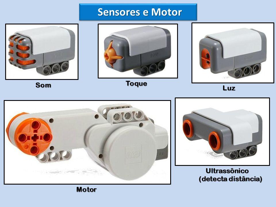 Sensores e Motor Som Toque Luz Ultrassônico (detecta distância) Motor