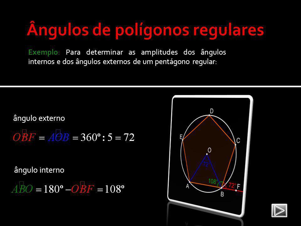 Ângulos de polígonos regulares