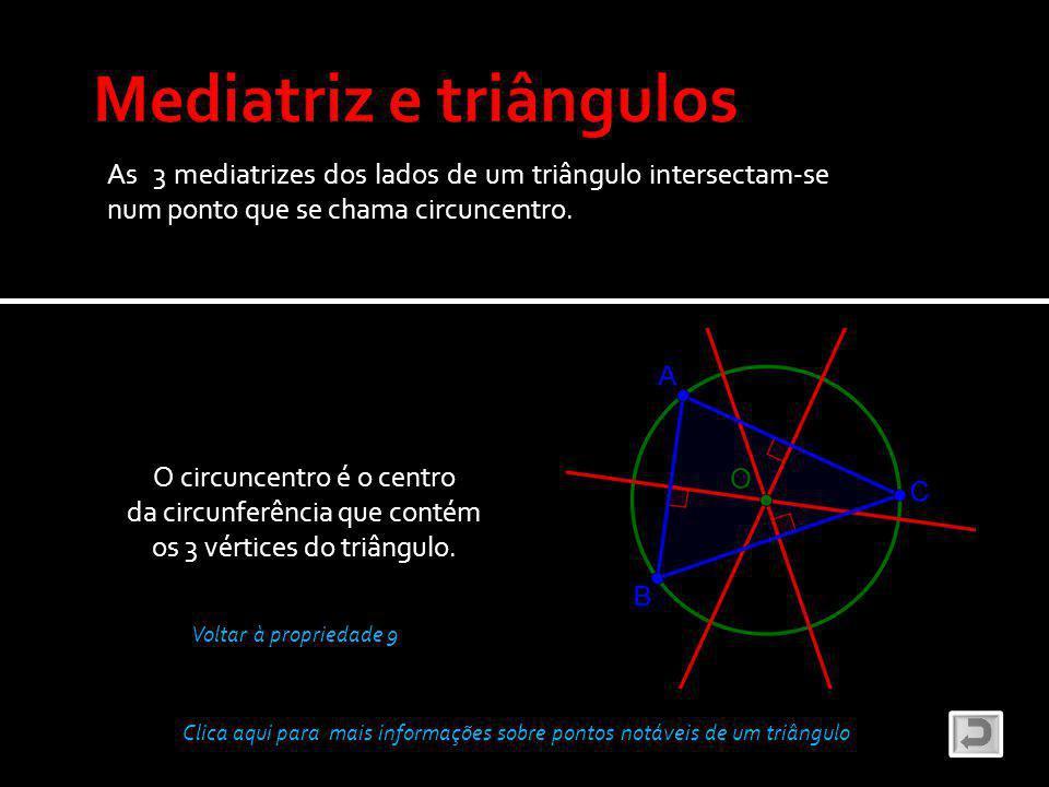 Mediatriz e triângulos