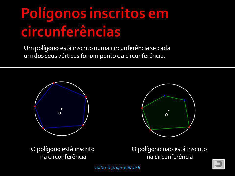 Polígonos inscritos em circunferências