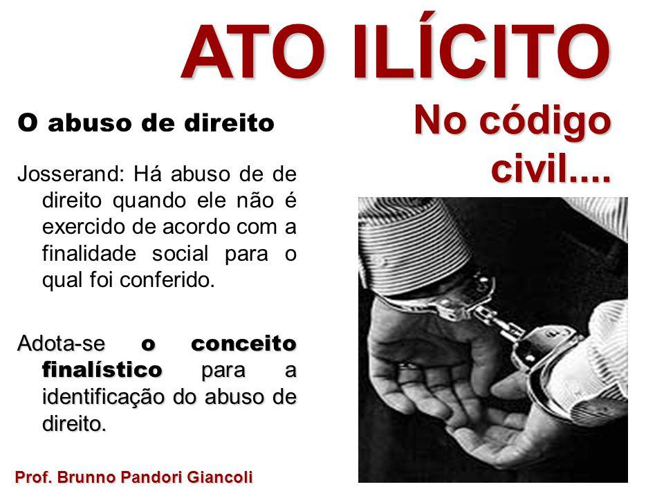 ATO ILÍCITO No código civil.... O abuso de direito